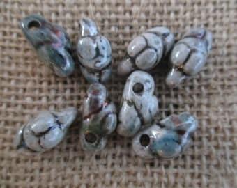 Samll Raku Clay Goddess Beads