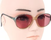 Vintage 1980's Rose Colored Sunglasses