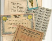 War Book, Savings Bond, Ration Stamps & Memorabilia
