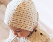 Heirloom Collection Handmade Baby Bonnet in CREAM, infant, gift, newborn, toddler