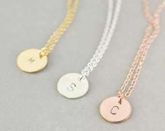 Initial Necklace, Personalized Jewelry, Bridesmaid Gift