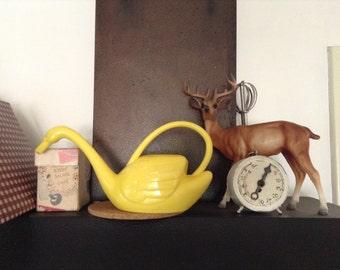Vintage Yellow Plastic Watering Swan retro beauty for indoor plants