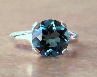 4.2ct London Blue Topaz, Argentium Sterling Silver Ring, Cavalier Creations