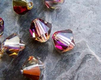 Crystal Beads-Bicone Beads-Preciosa Crystal-Czech Beads-Marea-8mm-12 Beads