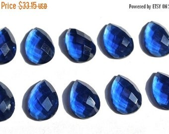 55% OFF SALE 10Pcs 5 Match Pair 13x10mm High Quality AAA Kyanite Quartz Rose Cut Faceted Pear Briolette - Drill Hole You Choose