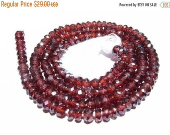 55% OFF SALE AAA Mystic Red Garnet micro faceted rondelles Length 14 inches Size 3.5mm approx