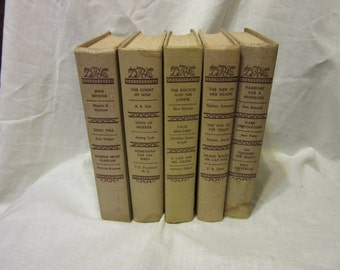 5 Hardcover Copies of Detective Book Club From the 1950's