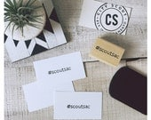 Your Instagram hashtag or handle - Custom Hand-Carved Rubber Stamp - Stamp your products packaging marketing materials business cards