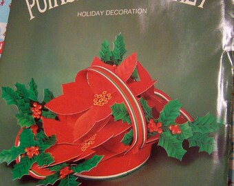 paper poinsettia holiday decoration