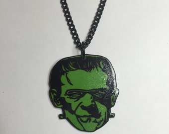 Green Frankenstein Necklace