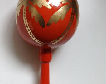 Maracas Palm tree heart (50 pieces) Personalized Maracas - hand painted and custom with your names and wedding date