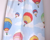 Vintage twin flat sheet hot air balloons