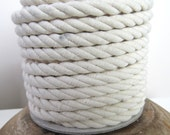 Thick Unbleached White Crepe Cord