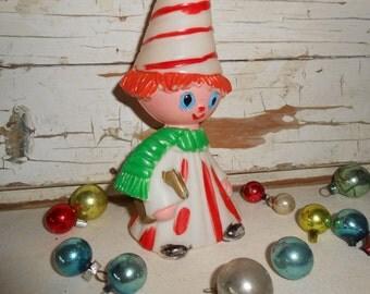Vintage Christmas Caroler, Vintage Plastic Christmas Figurine