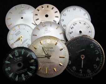 Vintage Antique Watch Dials Steampunk  Faces H 75