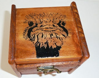 Wood Music Box - Ostrich