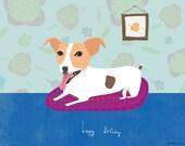 Happy Birthday friendly dog card cc67A