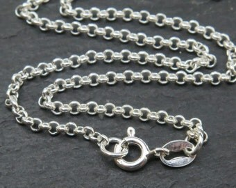 18 Inch Sterling Silver Rolo Necklace (CG8066a)