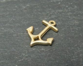 Gold Vermeil Anchor Charm 10mm (CG7805)