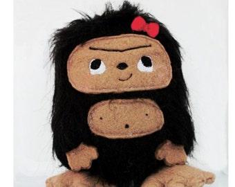 Little Girl Bigfoot Sasquatch Plush