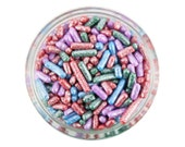 Pearly Jewel Jimmies - pretty pearlescent sprinkles for decorating cupcakes, cakes, cakepops, cookies, and ice cream
