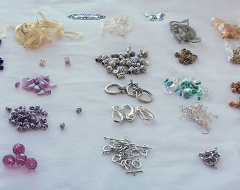 CLEARANCE DESTASH Lot A Jewelry Beads and Finding Supplies Jewelry Supplies Jewellery Supplies Beads Findings