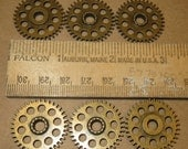 6 Heavy GEARS ONLY 1 Inch Large NeW CLoCK Watch Style STEAMPUNK Wheels Cogs Parts Pieces