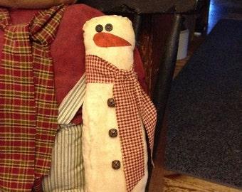 Snowman button eyes