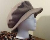 Wool Beret Style Cap.