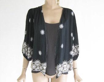 Vintage 20's Beaded Silk Blouse