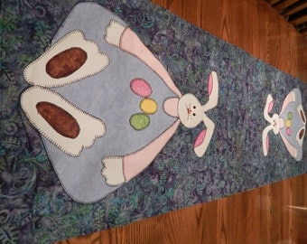 Large Silly Bunny Table Runner