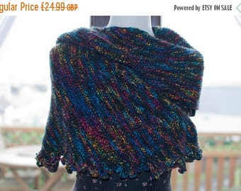 On Sale Handknitted Shawl in Black and Various Other Colours