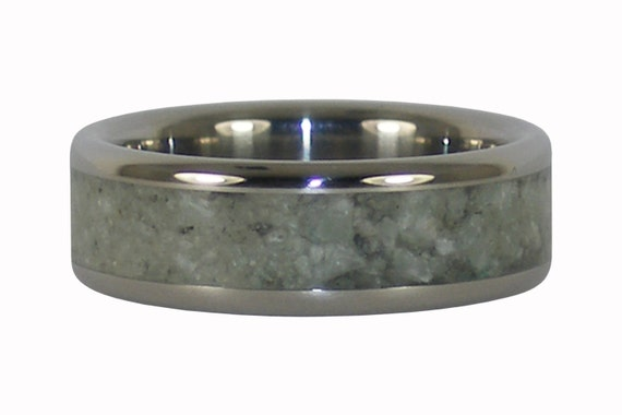 Jade inlay Titanium Band