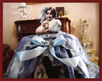 Theater Doll.....   Little Girl and her Cat