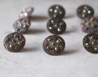 Marcasite Buttons, Victorian Buttons, Antique Marcasite Buttons, Button Collection, Vintage Buttons, Sewing Supplies, Antique Sewing Supply