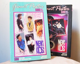 New KIDS on the Block // Vintage GIANT Puzzle Set of 2 // Unopened NKOTB Pop Music 80s 90s Game Night