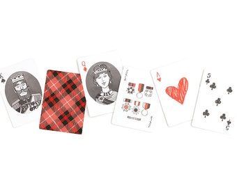 Artist Illustrated Plaid Playing Cards - Standard 52-card deck // 1canoe2