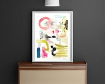 Abstract painting, original watercolor painting,Modern Art, colorful watercolor -    11,7 x 16,5 inches