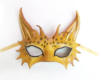 Jungle Cat Leather Mask  a smaller and very light version of my bigger Leopard & Spotted Cat masks