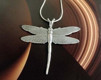 Vintage Dragonfly Sterling Silver Pendant