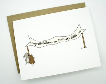 New Baby Card- Congratualtions On Your New Little One