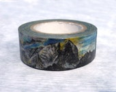 Swedish and Norwegian Landscape : Japanese Washi Masking Tape One Roll  =  The Collection of Beautiful Mountains