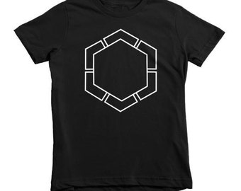 Geometric Hipster Kids  Winter Snowflake Tee - Fig. 49 White Ink -  Modern Childs T- Shirt Kids TShirt