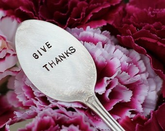 Give Thanks Silverware Marker (E0518)  // home decor // plant marker // thanksgiving gifts // thank you gifts // stocking stuffers