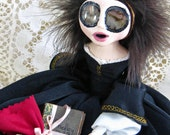 RESERVED for Gaby - Mary Shelley - Gothic Art Doll by Natasha Morgan