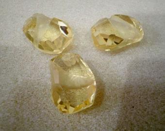 Swarovski Crystal Divine Rock Jonquil Pendants