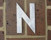 Vintage Metal Letter Sign Metal Letter N Sign Marquee Metal Letter N Sign Industrial Letter N Sign 6 Inches Tall