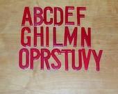 Vintage Plastic Sign Letters Alphabet Letters 20 Menu Board Letters