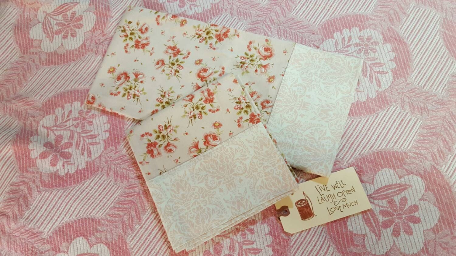 Shabby Chic Woodrose Pillowcases : Pretty Pink Shabby Chic Pillowcases