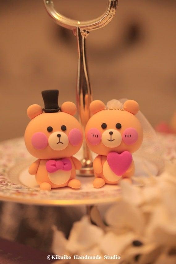 bear  wedding cake topper